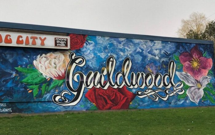 Dearham Wood mural Scarborough